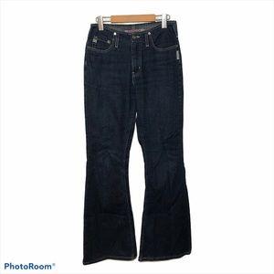 Vintage 90s Silver Jeans Flare Blue Size 28